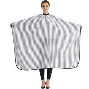 Professional Salon Cape Black and white stripes Polyester Haircut Apron Hair Cutting Cape