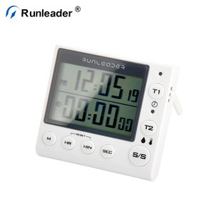 Runleader Humidity Clock Timer Multifunctional Timer Countdown Countup Timer For Baby Room Kitchen Cooking