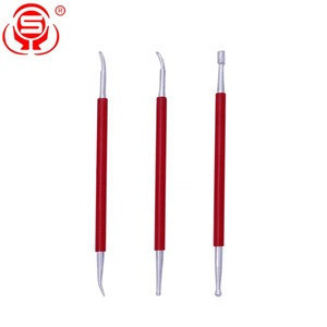 Stainless Steel Leather Clay Crimping Pen 3-piece Packed Practical Sculpture Pottery Tools for Clay Crimping
