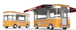 Street Mobile Fast Food Airstream Trailer For Ice Cream Hambeger Snacks