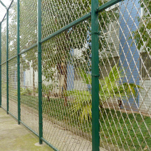 Wire mesh diamond garden gates and grid fence roll for backyard