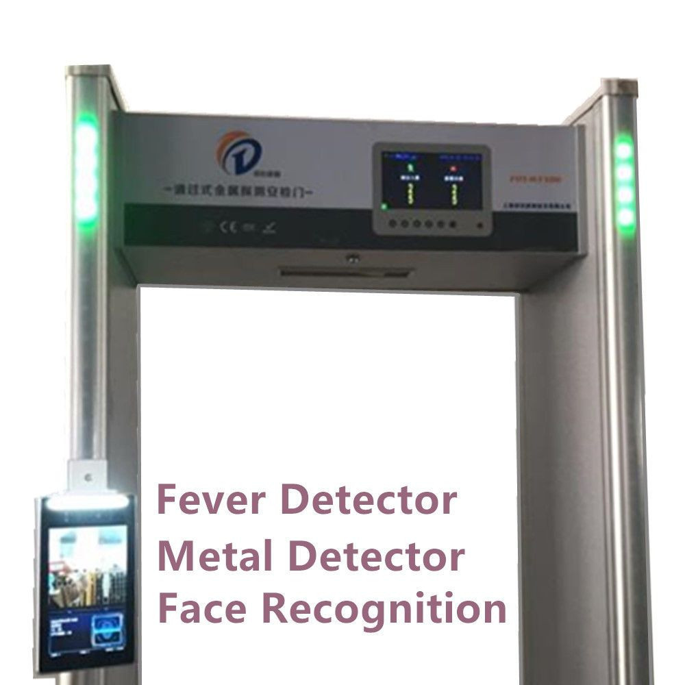 Thermal Detector Gate. Walk Through Metal Detector With Face Recognition & Thermometry