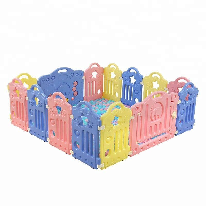 Wholesales Indoor Kid Play Yard Plastic Baby Fence