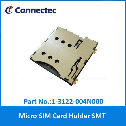 Micro SIM Push Push Type 6PIN SIM Card Holder 6 Pin w/SW