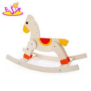 2017 new design children funny wooden ride on animal toy W16D108