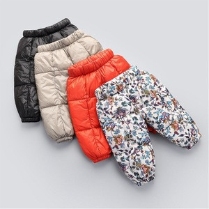 2018 high quality down pants new baby boy down  warm outside wearing outdoor pants