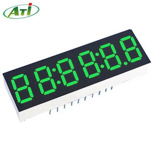 41*11mm 6 digit 7 segment led display common anode super red 0.3 inch