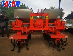 Agricultural machinery two rows fertilizer spreader / fertilizer drill for sugarcane farm cultivators