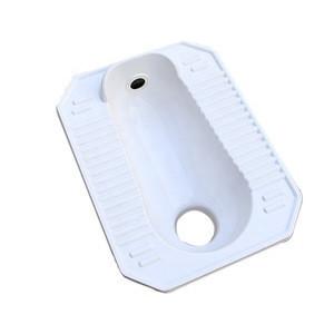 Bathroom product pure white fiberglass frp composite water closet squatting pan Cheap toilet squat pans