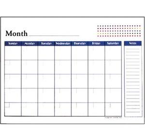 "BAZIC 17"" X 22"" Undated 12-Months Desk Pad Calendar"