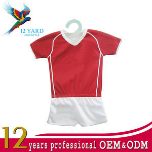 Custom design promotional uniforms car gift mini football jersey shirt+pants for Club