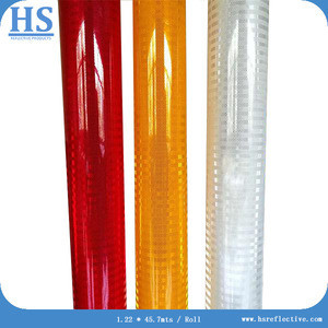 Diamond grade reflective sheeting for high visibility color reflective material