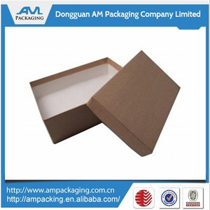 Different Size Natural Brown Kraft Paper Jewelry Boxes With Cotton Filled