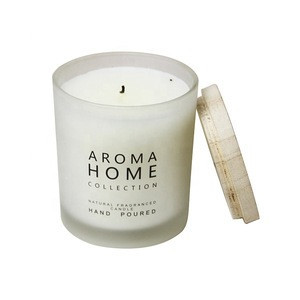 Eco-friendly Popular New style private label scented candles  luxury gift candles frosted glass massage candle