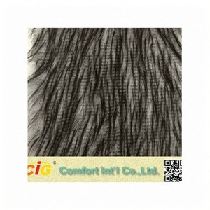 Fashion high quality new design artificial wool fabric wholesale faux fur cheap fabrics with acrylic polyester