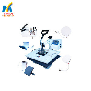 Good quality multi-function 8 in 1 mug , tshirt heat press transfer printing machine for sale