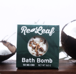 Health Naturally CBD Oil Re-Leaf Bath Bomb 50mg