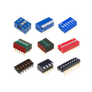 High quality 1032 KLS brand 12 position 2.54mm digital blue snap dip switch