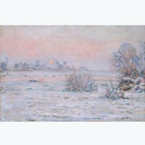High Quality Monet Snow Landscape Canvas Oil painting