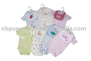 Knitted baby body/2pcs hanger set baby wear/wholesale clothing
