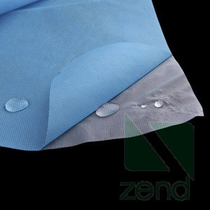 Laminated PE nonwoven for isolation gown