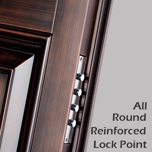 Luxury royal Chinese top brand accessory casting steel doors for balcony with triple lock