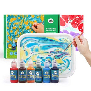 Marble Paint Kit For Kids and Adults, DIY Drawing Tools Marbling Paint In Water
