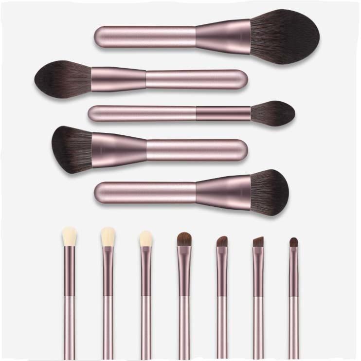OEM Synthetic Hair 12PCS Makeup Brush Set with PU Bag