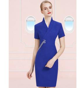 One piece dress shenzhen airline fashion airline stewardess uniform
