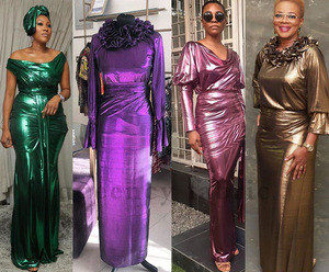 Queency Available Stunning Metallic Lame Fabric Stage Costumes for Important Occasion