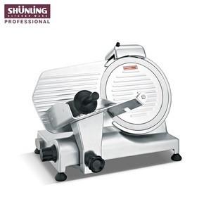 Semi-automatic 250es-10 meat slicer, LFGB/ETL 320w anodized aluminum ham slicer