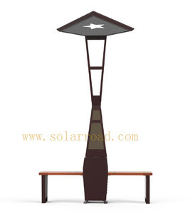 SOLARROAD RS1804 With USB Charging & WIFI Function LED Lighting Outdoor Public Park Solar Power Garden Chair