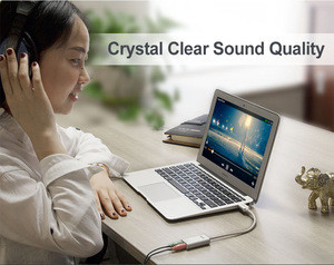 UNITEK USB to Stereo Audio Converter, Sound Card, Earphone and Microphone Adaptor