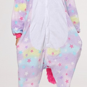 Wholesale animal costume cute adult flannel pajamas