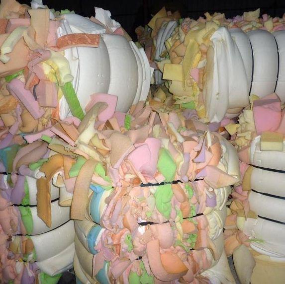 Waste PU Foam Scrap in bales