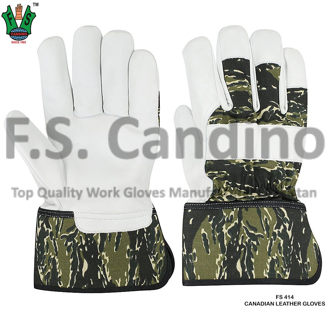 Canadian Gloves - Canadian Riggers Gloves - Canadian Leather Gloves - Rigger Gardening Gloves