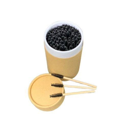Private package Eco DISPOSABLE mascara brush with bamboo handle brush for eyelash extension