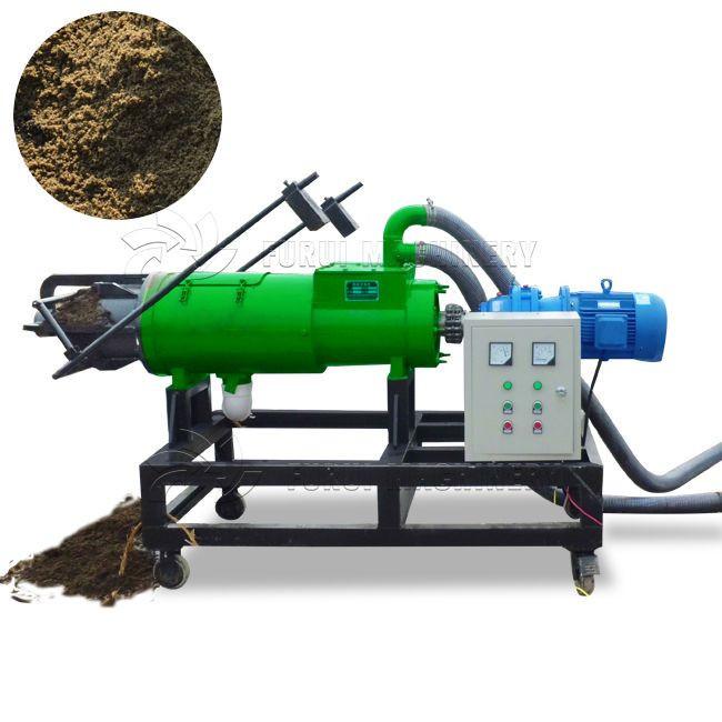 High quality manure dewatering screw press/pig manure solid liquid separator