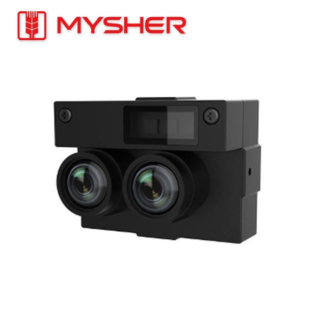 Wide dynamic range dual-lens camera module with infrared binocular detection