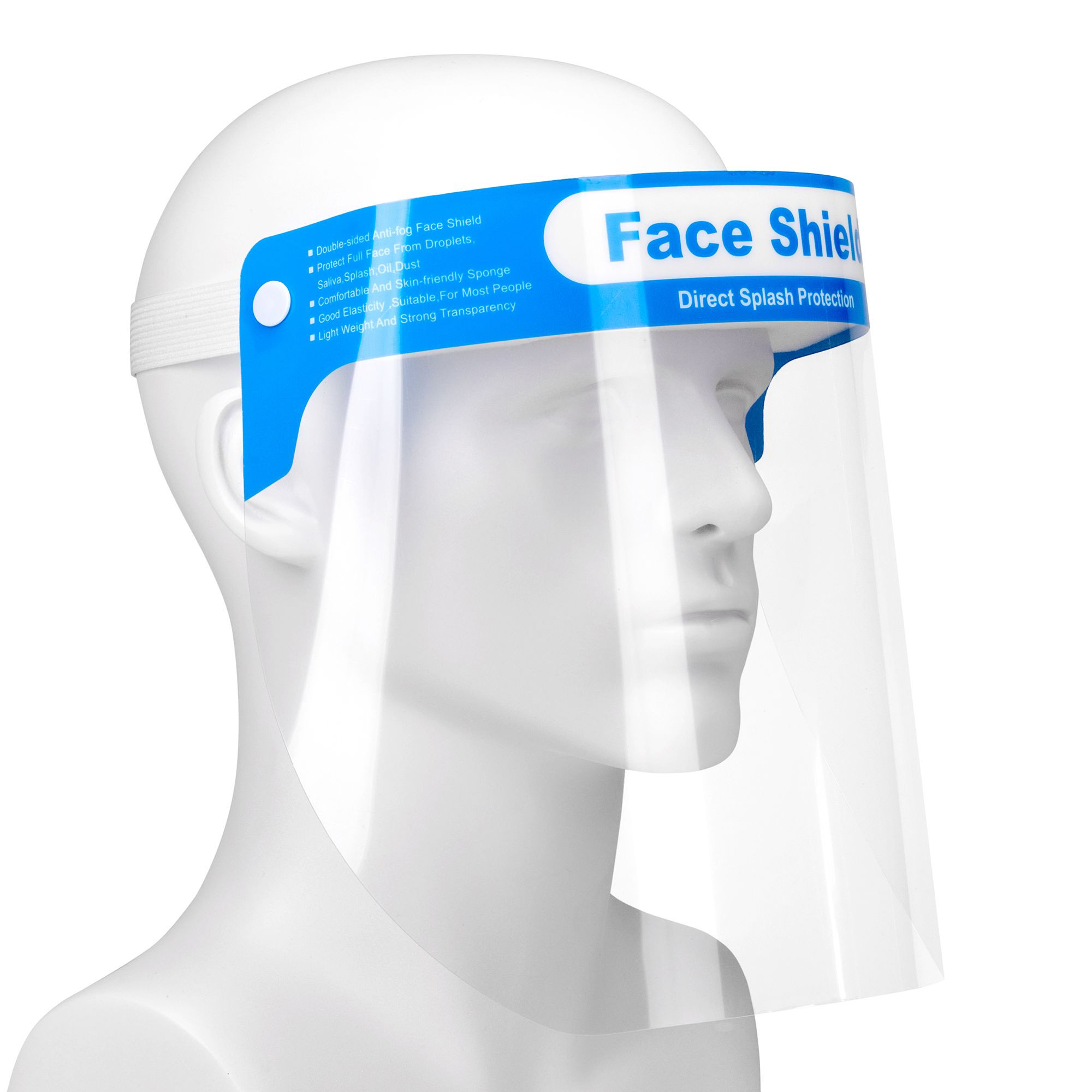 Adult anti fog reusable transparent safety glasses clear full face shield cover visors protective face shield