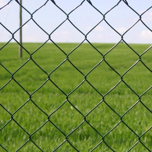 1.8m high and 20m a roll chain link fence with diamond hole size wire mesh