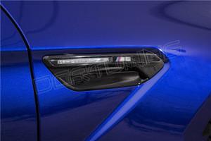 2 Pcs For BMW M Series F06 F12 F13 M6 Carbon Fiber Fender Light Trim 2012 - UP