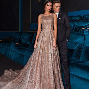 2019 Elegant evening dress fashionable women sequin formal dresses