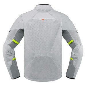 2019 Water Repellent Factory made Professional white Summer Motorcycle Mesh Textile Jacket, Ventilation zips on sides