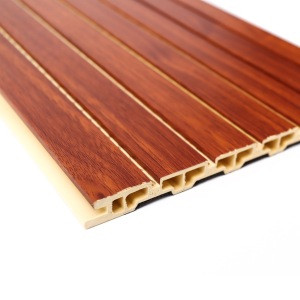 210mm wooden perforated acoustic wood wall panel in BPC raw materials