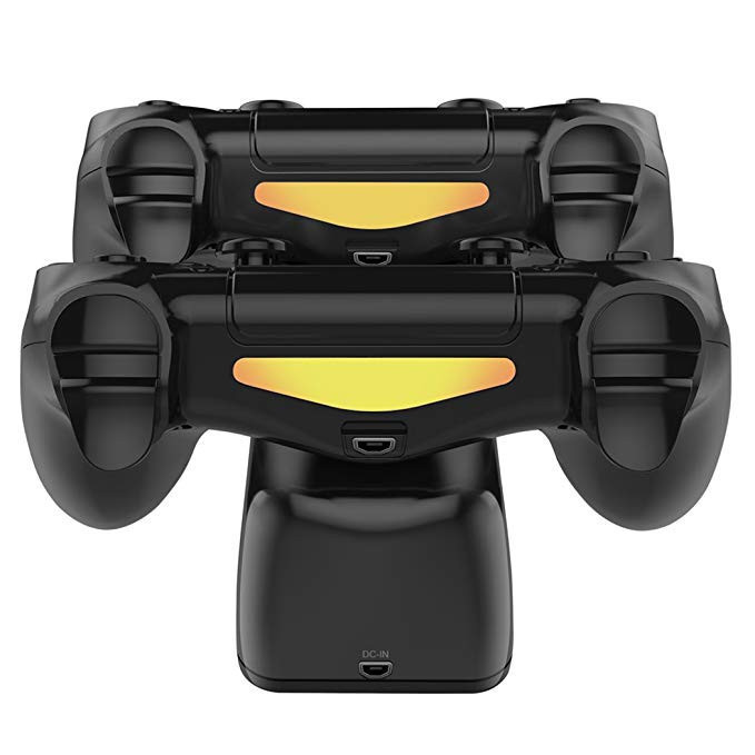 4 Controller Charging Docking Station with LED Light Indicators For  Dual Shock PS4/PS4 Slim/PS4 Pro Controller
