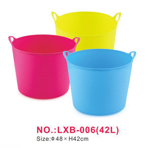42L basket All color available small plastic shopping basket with best price