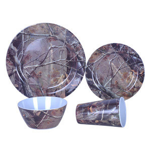 Bamboo fiber dinnerware sets