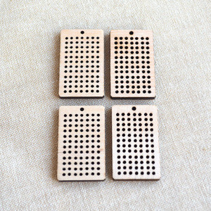 Cross Stitch Blanks plywood Rectangle Blanks Ideal for Earrings wood Pendants