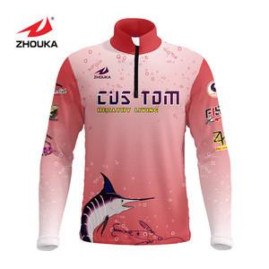Custom The Latest Popular  Zipper Ajar Carp Fishing Jersey Mens Fitness Apparel